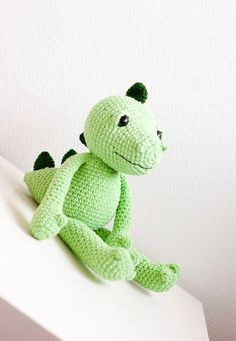 Amigurumi dragon soft toy soft sculpture  Egon the by sofiasobeide, €44.00