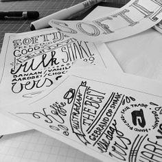 TYPOGRAFIE | Weer met een leuk stukje handwerk bezig #pen #scan #vector