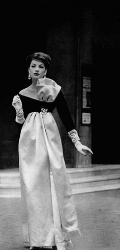 fb7f8ee0a1 1958 - Yves Saint Laurent for Christian Dior evening gown   reference for  Celeste Mortinné s wardrobe   the last canvas online novel