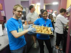 """@gobigfishgo was on a """"roll"""" last night serving a meal to our families. :-)"""