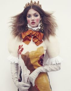 Lindsey Wixson stars as Russian princess Anastasia in the December 2013 edition of Vogue Japan. Photographed by Emma Summerton, Wixson is lo...