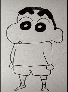 Easy Pencil Drawings, Easy Cartoon Drawings, Cute Little Drawings, Drawings Of Cartoon Characters, Simple Drawings For Kids, Cute Easy Animal Drawings, Cartoon Pencil Drawing, Minion Drawing, Easy Disney Drawings