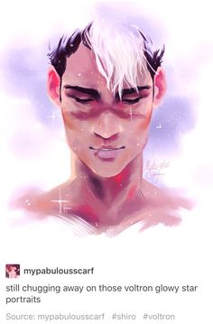 Shiro // why is this so beautiful? Oh yeah- because Shiro's fucking beautiful.