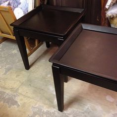 2 Matching Ebony End Tables.