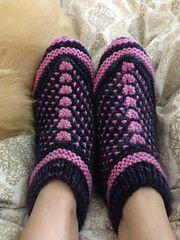 Ravelry: Bosnian-Siberian Slippers pattern by Jessica L Knitting Patterns Free, Knit Patterns, Free Knitting, Baby Knitting, Knitting Videos, Crochet Boots, Knit Boots, Knit Or Crochet, Knit Slippers Free Pattern
