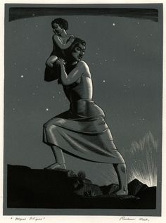 Artwork by Rockwell Kent, Night Flight (BJ. Made of Chiaroscuro wood engraving in black and bluish gray on wove paper Rockwell Kent, Norman Rockwell, Ghost Of Christmas Past, Web Design, Chiaroscuro, Art For Art Sake, Wood Engraving, Woodblock Print, Printmaking