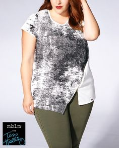 Opt for an urban look in this trendy plus-size tee from mblm by Tess Holliday…