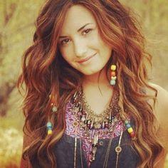 Demi Lovato beads in hair. :)