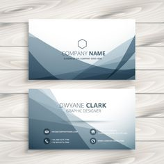 Abstract business card with grey waves Dental Business Cards, Modern Business Cards, Business Card Logo, Free Business Card Design, Name Card Design, Business Invitation, Bussiness Card, Postcard Design, Calling Cards