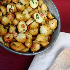 Roasted Potatoes with Parsley, Parmesan and Bacon