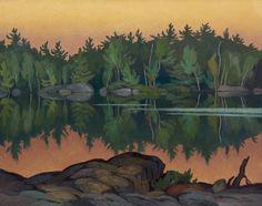 Alfred Joseph Casson (1898-1992) - Afterglow, Moose Lake