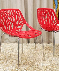 Another great find on #zulily! Red Birch Sapling Accent Dining Chair - Set of Two #zulilyfinds