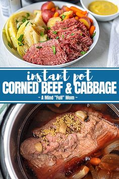 Instant Pot Corned Beef and Cabbage is the BEST way to make traditional corned beef with cabbage, potatoes, and carrots! The corned beef becomes perfectly tender and the vegetables are cooked until just tender for a delicious, easy meal. Baked Corned Beef, Cooking Corned Beef, Corned Beef Recipes, Crockpot Recipes, Cornbeef And Cabbage Crockpot, Corn Beef And Cabbage, Cabbage Recipes, Salmon Recipes, Best Instant Pot Recipe