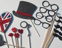 Isn't this great!! Royal Wedding Photo Booth Props - British Invasion Collection