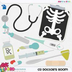 CU Doctor's Room Templates [PaBD_cudoctorsroom] : CU Digitals, Commercial Use / CU Digital Scrapbooking elements, templates, overlays, actions, scripts and tools