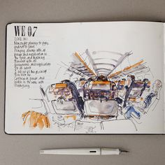 Flying with Fountain Pens - Liz Steel : Liz Steel Travel Sketchbook, Art Sketchbook, Watercolor Journal, Watercolour Painting, Pen Illustration, Illustrations, Industrial Design Sketch, Principles Of Art, A Level Art