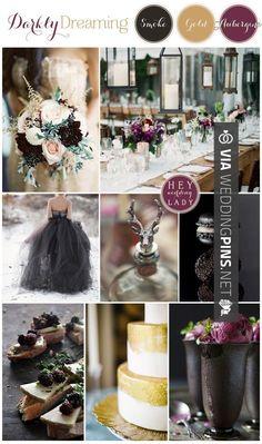 So good - Wedding Colour Schemes 2017 - Darkly Dreaming A Moody, Romantic…