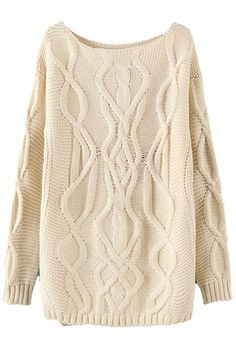 gorgeous overknit cable sweater for under $35 #cheapandchic #sweaterweather