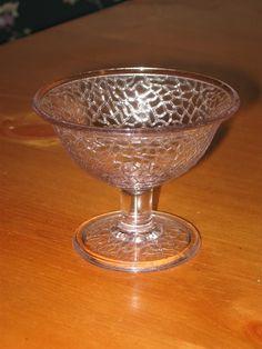 Lavender Sherbet Dish - Depression Glass - Crackle. From KWDreamer