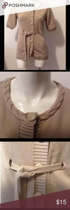 LA Made Beige Belted Cardigan Sweater LA Made Beige Belted Cardigan Sweater. Women's Size S. LA Made Sweaters Cardigans