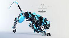 robot animal Cyber Panther on Behance Gundam, Futuristic Art, Futuristic Technology, Technology Gadgets, Arte Robot, Robot Art, Robot Concept Art, Weapon Concept Art, Animal Robot