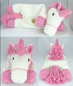 Suki The Unicorn Pyjama Case Knitting Pattern More