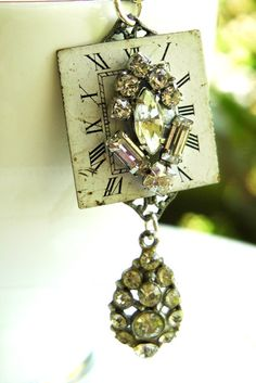 Vintage watch face necklace