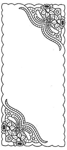 Ubrus obdélník richelieu, 106 x 47 cm