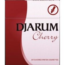 Djarum Cherry is a blend of select cloves and tobaccos, with a hint of cherry. The aromatic fruity taste gives you a unique experience unlike any other.  Djarum Cherry was first introduced to the US market in 2003, together with Djarum Menthol and Djarum Vanilla. When launched, it was the first cherry-flavored clove cigarette in the world. It is distributed not only in Europe but also in other continents such as Africa and Asia. It was awarded Inter-tabac Stars in 2008 for the most… Black Cigarettes, Cherry Brandy, Brand Names, Addiction, Continents, Smoking, Cart, Vanilla, Asia