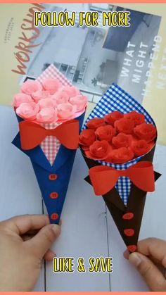 Easy Paper Crafts, Paper Crafts Origami, Diy Crafts For Gifts, Paper Origami Flowers, Flower Paper, Easy Origami Flower, Origami Flowers Tutorial, Paper Flowers For Kids, Hand Crafts For Kids