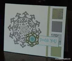 Monica's Scrap Spot: Thank You -  CTMH Avonlea Card