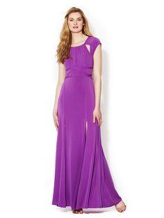 Lulu Cut Out Bodice Jersey Gown by BCBGMAXAZRIA at Gilt