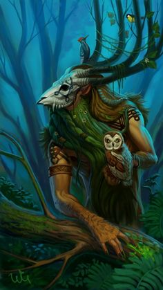 Forest Keeper Picture (2d, fantasy, forest, keeper, creature)