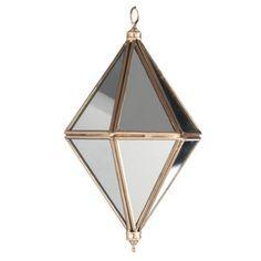 Diamond w/mirror - Copper - 14*7 cm | Madam Stoltz - Klik for mere information