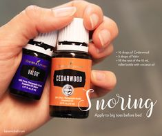 Essential oil roller blend for snoring. Young Living