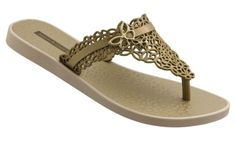 IPANEMA Thongs/Flip Flops |  Admiral - Gold | by Gisele Bundchen ... These were my favourite thongs!