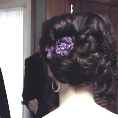 Sisters above shoulder short hair updo that I did for prom :)