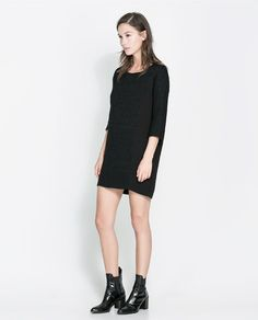 Image 1 of DRESS WITH THREE-QUARTER SLEEVES from Zara
