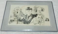Rich Boniker 1981 Three Stooges Print