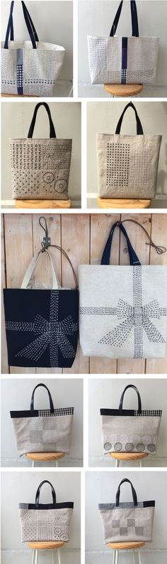 Found these great linen bags with embroidery on both sides in the Japanese handmade market site, Creema. These are sold under the brand name, Shukugawa Sakura Sagyosyo. The Japanese embroidery met…