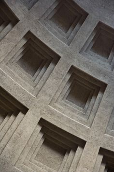 Coffered ceiling; The Pantheon, Rome.