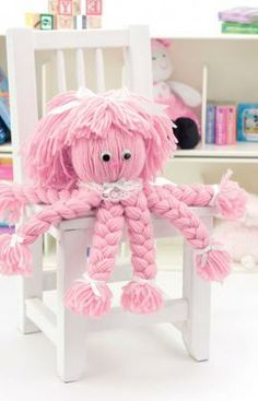 Olivia Octopus: Easy enough to make with a child, this clever octopus is a great way to practice making braids. There's no knitting or crocheting! Be creative and use a favorite color of yarn and trims.