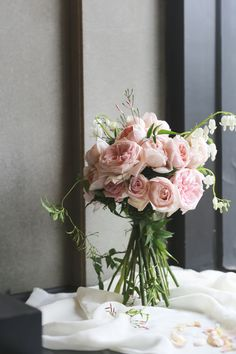 #Wedding #bouquet #pink #rose #ellalefleur