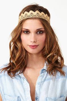 Ozma Gold Lace Crown