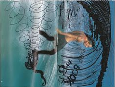 A copy of Surf Book #3, spread open showing both front & back covers.