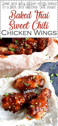 Sweet And Spicy Chicken, Chicken Wings Spicy, Chicken Chili, Thai Bbq Chicken, Chinese Chicken Wings, Chicken Breasts, Chicken Wing Sauces, Chicken Wing Recipes, Chicken Wing Side Dishes