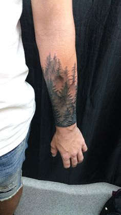 Forrest Skyline (Scar Coverup) By Felix Felix Bodyart at Augsburg Germany