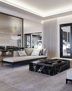 The Chambon Penthouse by Dieter Vander Velpen Architects - Home Decoraiton Living Room Grey, Living Room Modern, Living Room Interior, Living Room Decor, Living Rooms, Interior Livingroom, Small Living, Living Area, Contemporary Interior Design