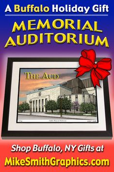 Highly detailed drawing featuring The Aud in Buffalo, NY by Western NY artist Michael Smith. Shop for unique artwork in a variety of subjects at MikeSmithGraphics.com. Auditorium, Limited Edition Prints, Wall Art Prints, Buffalo, Ink, Drawings, Unique, Artist, Artwork