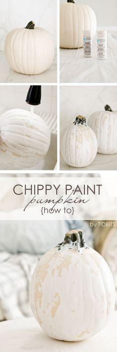 Chippy paint pumpkin
